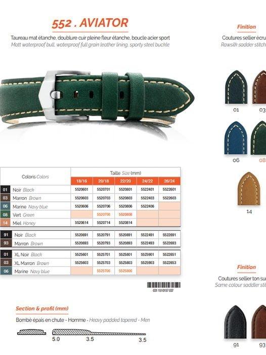 Hình ảnh Dây Da Đồng Hồ ZRC 552 AVIATOR Chính Hãng Có Gá Bán 522000 VNĐ tại SHOPDONGHO.com